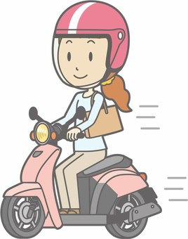 Motorcycle - Ride a scooter - whole body