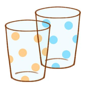 圓點玻璃杯