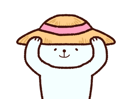 Straw hat polar bear