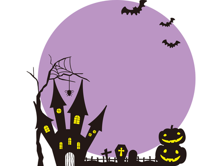 Halloween image 001 purple without ruling