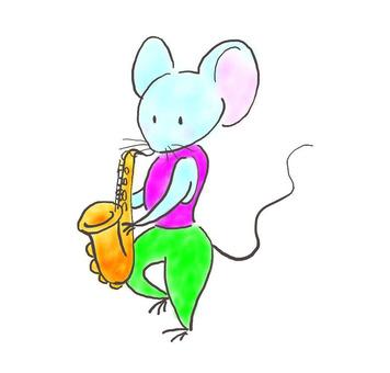 색소폰 쥐
