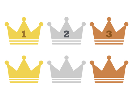 Crown crown crown icon set