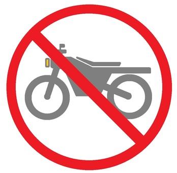 Motorcycle prohibited