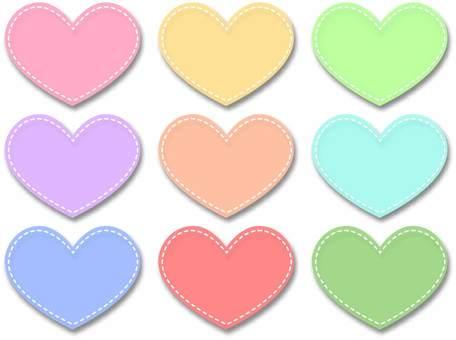 Heart shaped frame pastel set