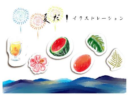 It's summer! Illustration