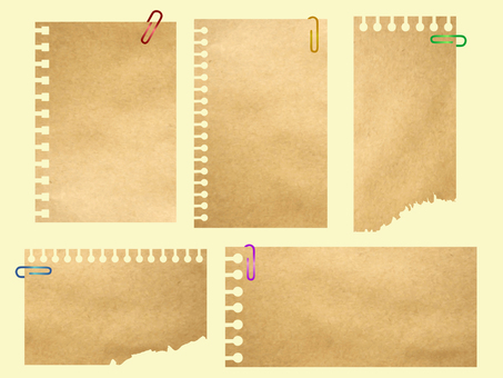 Kraft paper memo paper (with clip)