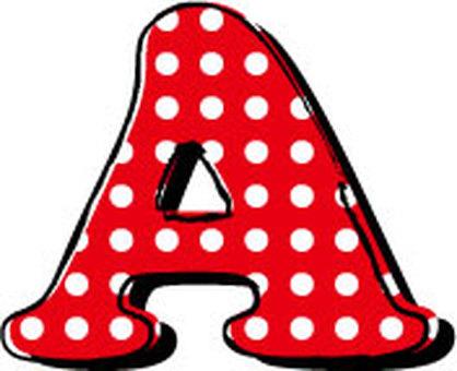 Dotted alphabet A