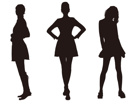 Female silhouette (fashion 008)
