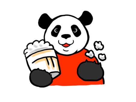 Panda-kun movie watching
