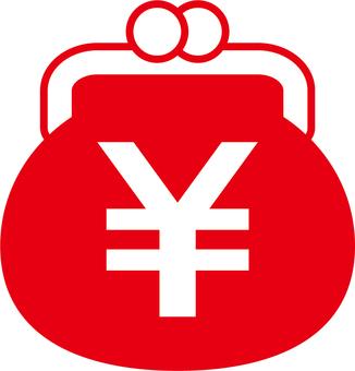 Gamaguchi _ yen mark _ red