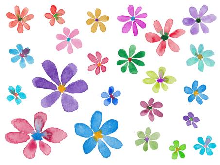 수채화 꽃 -1