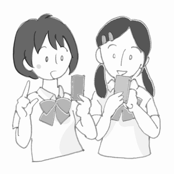 Junior high school student / high school student Playing with a smartphone