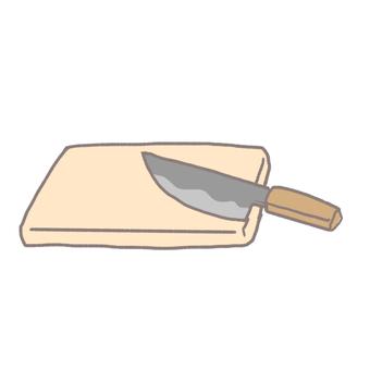 菜刀和切菜板
