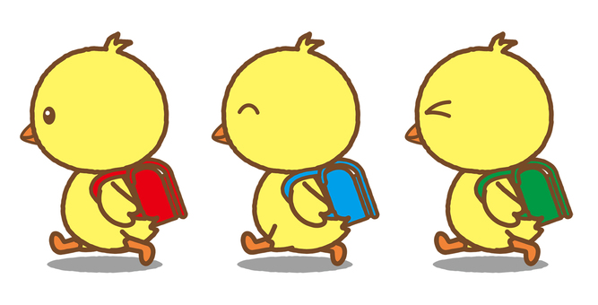 Chick attending school