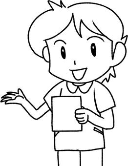 Nurse (line drawing)