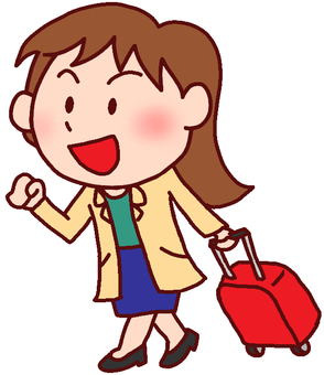 Illustration of a woman going on a trip