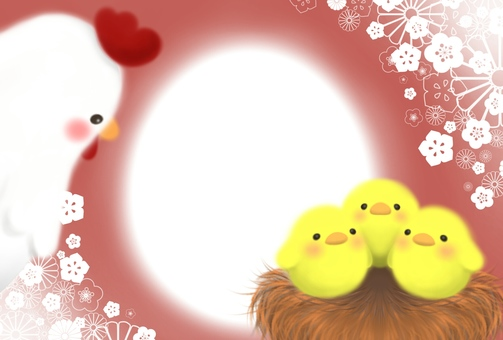 Chicken and chick frame (Orange type)