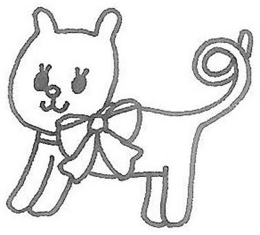 Cat in the ribbon ♡ cat