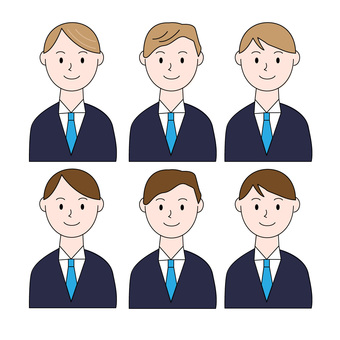 Male office worker illustration