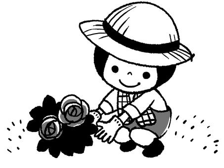 gardening2 monochrome ver