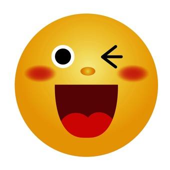 Winking emoticon