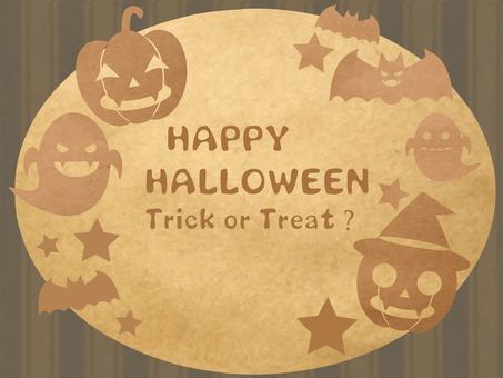 Kraft paper Halloween frame