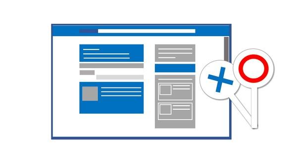 웹 사이트와 원형 바트