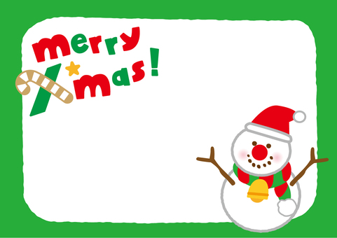 Christmas frame Snowman