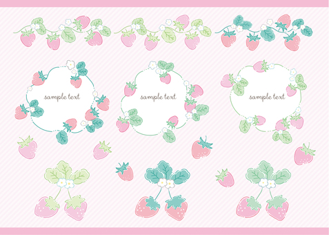 Strawberry material set