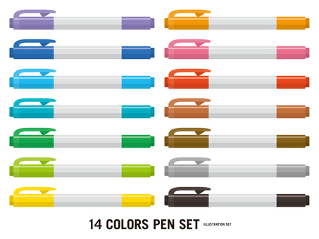 Color pen 14 color set