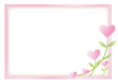 Heart-blooming flower frame