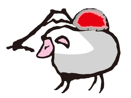 Sheep and Mt. Fuji