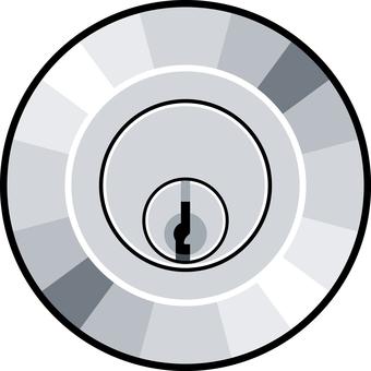 Keyhole lock lock
