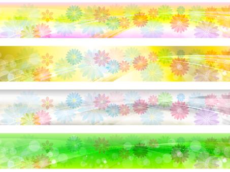 Flower line background 170321