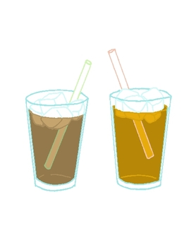 Ice coffee ice tea