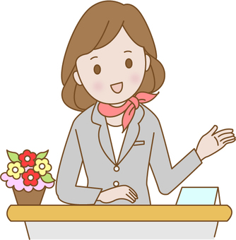 Reception woman