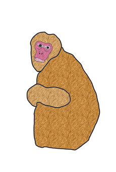 Monkey's surreal monkey icon