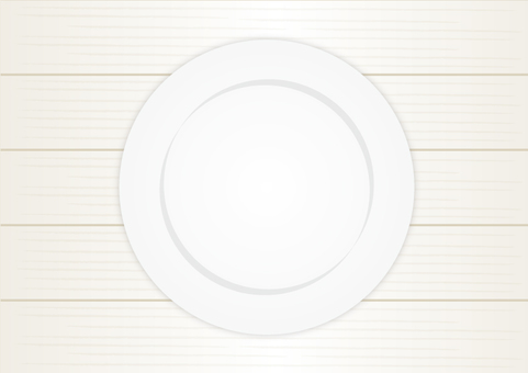 White wooden table and dish