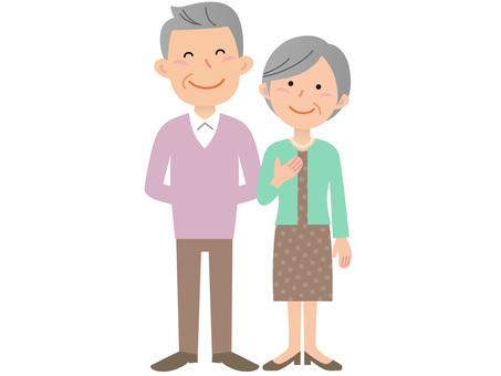 60214. Senior couple, whole body