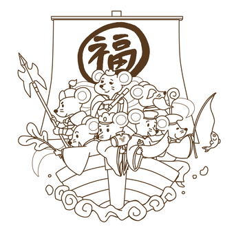 Mouse Seven Lucky Gods_Line Only