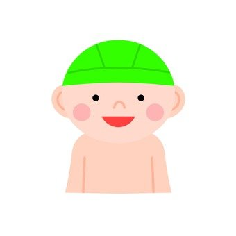 A boy with a swimming cap