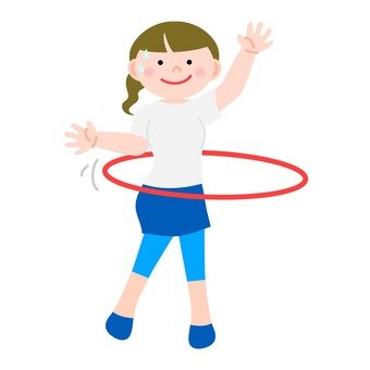 A woman turning a hula hoop 1