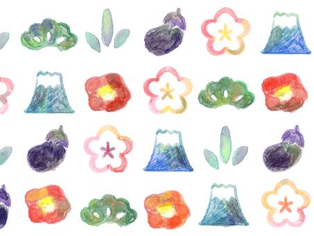 Watercolor motif