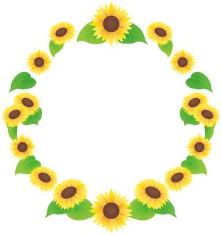 Sunflower frame 04