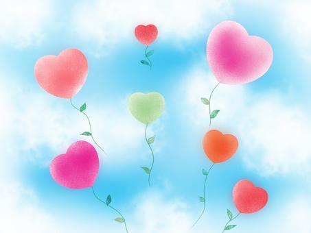 Balloon flowers born from heart seeds