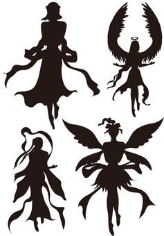 Goddess silhouette 5