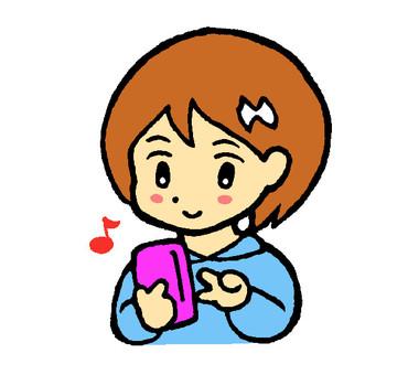 Girls using a smartphone 1