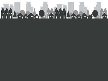 Cityscape frame monochrome