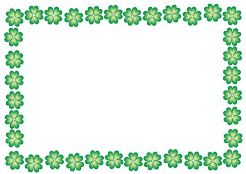 Four leaf frame · green