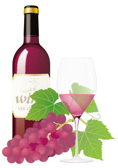 Wine bottle _ rose